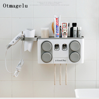 4PC Washing Cup Toothbrush Set Bathroom Wall Hanging Storage Rack Toothpaste Holder Combination Home Bathroom Accessories Set