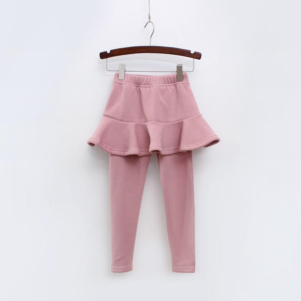 Г. Однотонные штаны для девочек детские леггинсы От 2 до 10 лет одежда для детей осенние хлопковые леггинсы теплая юбка-брюки для маленьких девочек, высокое качество - Цвет: Pink