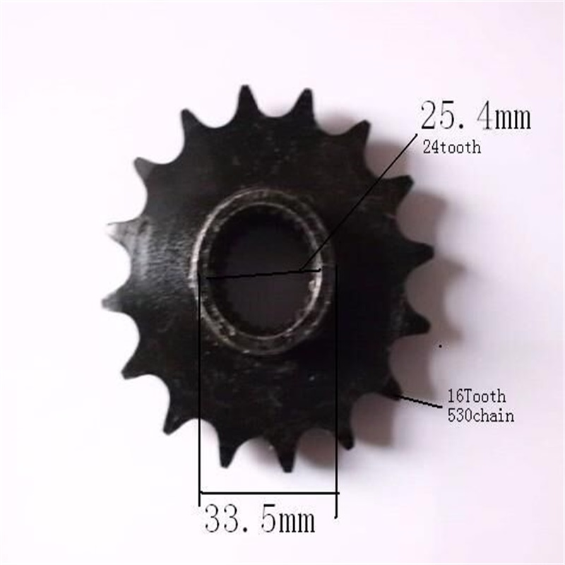 ATVS ATV UTV front sprocket sprockets Inner hole 25mm24t outside 16t for 530 chain 4X4 go kart karting quad buggy 350
