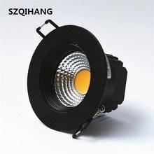 High Quality 10w 15w 20w AC85V-265V 110V / 220V LED Dimmable Ceiling cob Downlight Recessed Wall lamp Spot light
