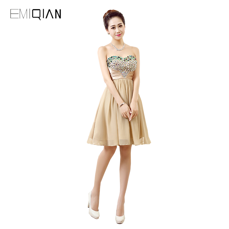 Original Design A Line Sweetheart Champagne Chiffon Designer   Cocktail     Dresses