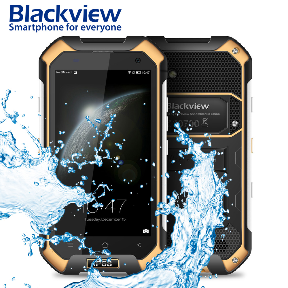 "Blackview BV6000S Smartphone 4G Waterproof IP68 4.7 ""HD MT6737 Quad Core Android"