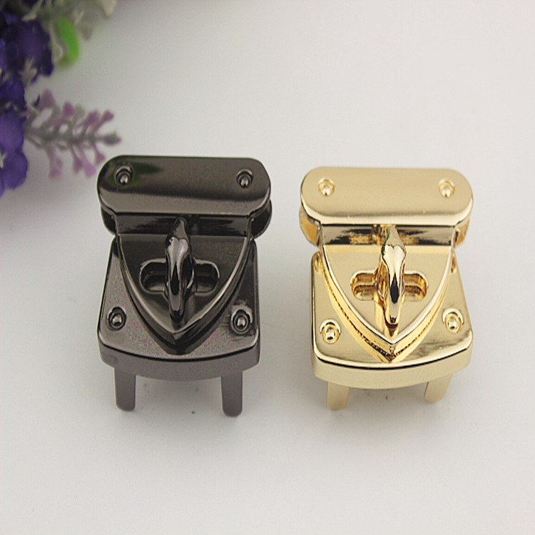 Able 2pcs 31x37mm Handbag Metal Locks Buckle Fashion Twist Turn Lock Snaps Diy Replacement Bags Purse Clasp Closure Accessories Bf120 Soft And Light Arts,crafts & Sewing Buckles & Hooks