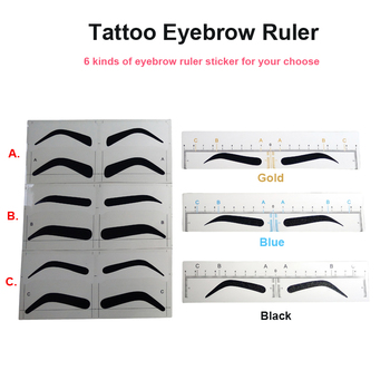 Disposable Microblading Eyebrow Ruler Sticker Professional Permanent Makeup Accessories Eyebrow Stencils Measure Shaping Tools best deal new women magnetic microblading makeup brow measure eyebrow guide ruler permanent tools positioning ruler 1 set