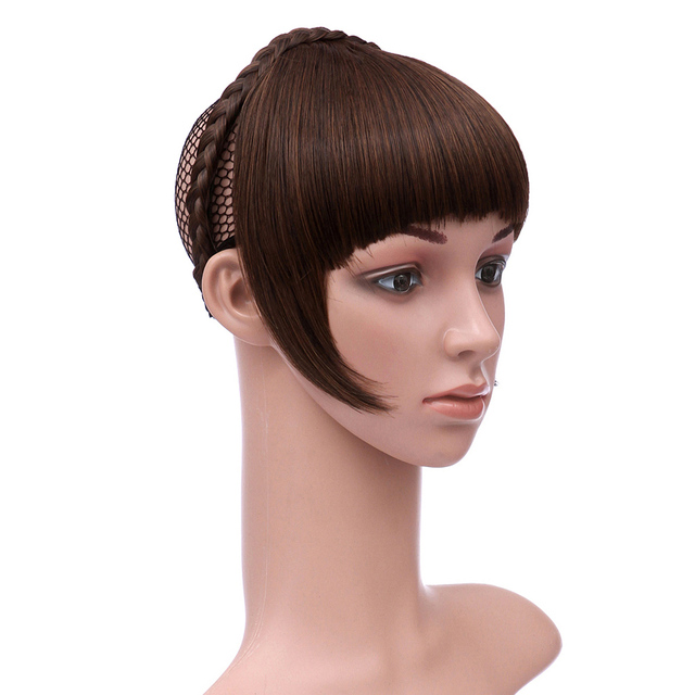 Delice Women Hair Fringe With Single Braid Headband Heat Resistance