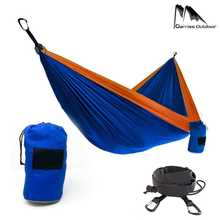 Outdoor/Indoor Furniture Double Adult Hammock Camping Parachute Backpack Travel Survival Hunting Sleeping Portable Hanging Bed