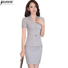 Высокое качество формальный блейзер набор OL Тонкий деловой женский деловой костюм с юбкой модный офисный большой размер женский ремень декоративный костюм