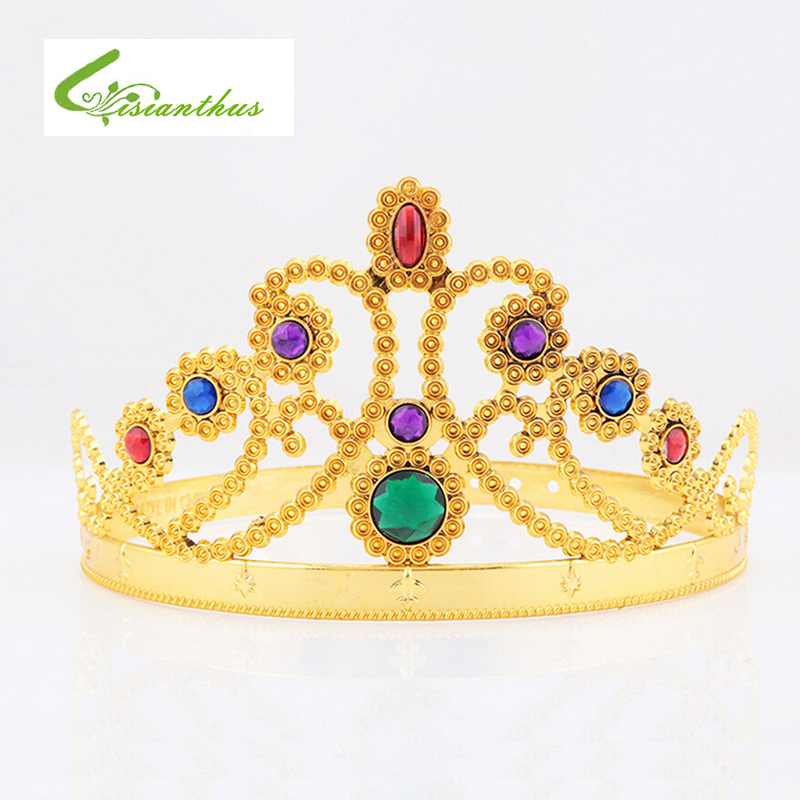 Princess and Prince  Kids Favor Gold Number Hair Band Crown Birthday Hat