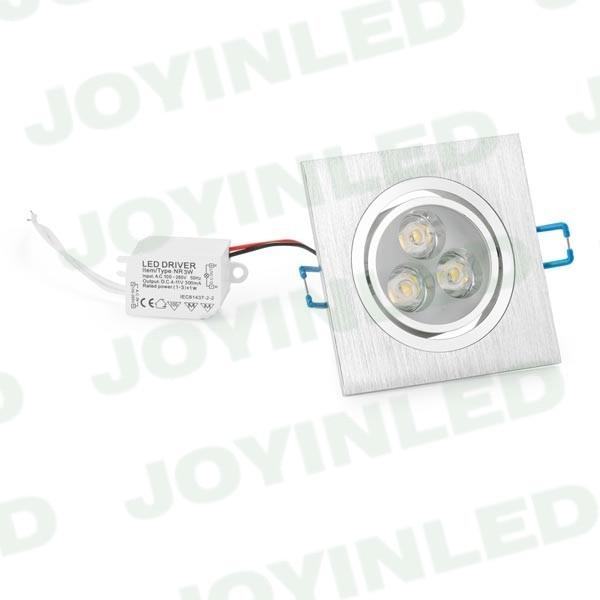 10db / tétel 3W 6W 9W Epistar LED mennyezeti lámpa Süllyesztett - Beltéri világítás