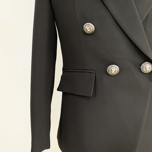 Image 5 - HIGH QUALITY Runway 2020 Designer Mens Blazer Classic Double Breasted Metal Lion Buttons Blazer Jacket Outer Wear