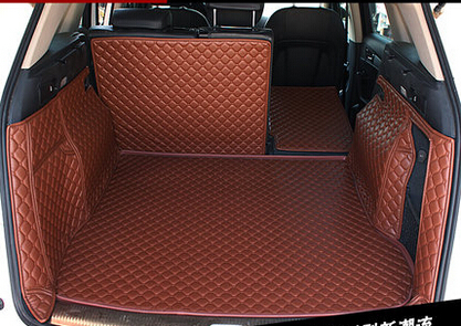 non slip easy clean wholy surrounded no ordor Special carpets for Q5 waterproof durable leather car trunk mats
