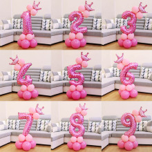 QIFU 17 шт номер воздушный шарик воздушные шары на день рождения украшения на день рождения детский воздушный шар из фольги цифры балон шары Babyshower