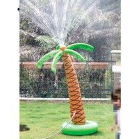 Inflatable Coconut Palm Tree Water Sprinkler Toys Inflated Children Toys For Sandbeach Party Decorations Supplies Hawaii