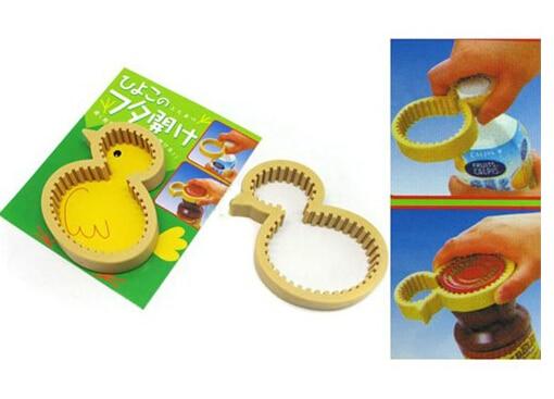 Gele Keuken 9 : Leuke gele plastic kip jar cap flesopener grip strak nuttig keuken