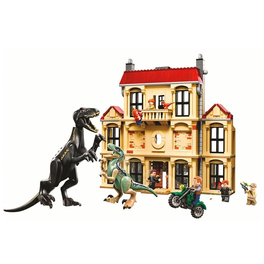 حقيقية بيلا 10928 1046 قطعة العالم الجوراسي ديناصور Indoraptor نموذج بناء لعبة المكعبات للأطفال متوافق 75930-في حواجز من الألعاب والهوايات على  مجموعة 1