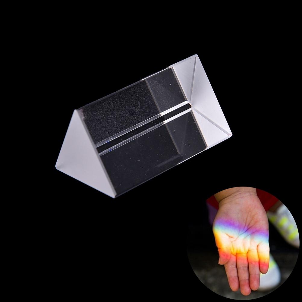 5 Cm Dreieckigen Prismen Lehre Optische Glas Triple Physik Licht Spektrum Durchblutung GläTten Und Schmerzen Stoppen