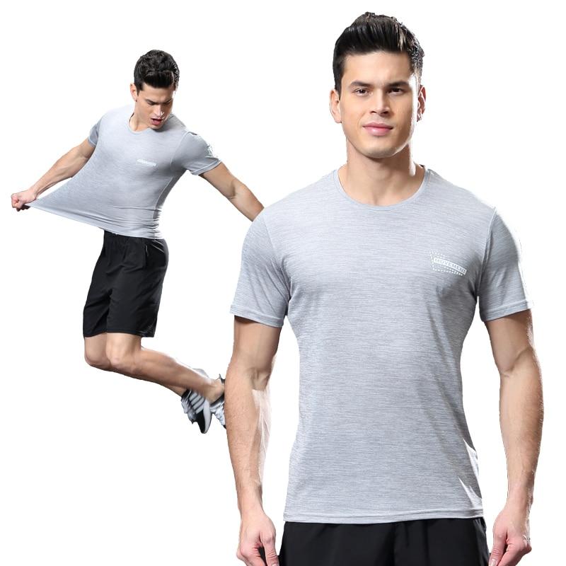 Gym T Shirt Badminton Golf Wear Shirts Mens Shirt Men Running Tennis Shirt Sport Quick-Dry Sportswear Men Breathable Tshirts
