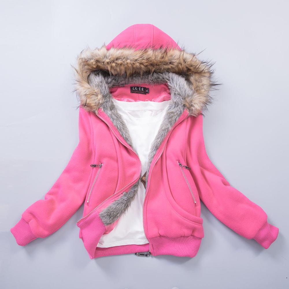 Американский размер, S-3XL, улучшенная качественная женская куртка, весеннее зимнее пальто, толстовка с капюшоном из меха енота, женская одежда#3002 - Цвет: Rosepink