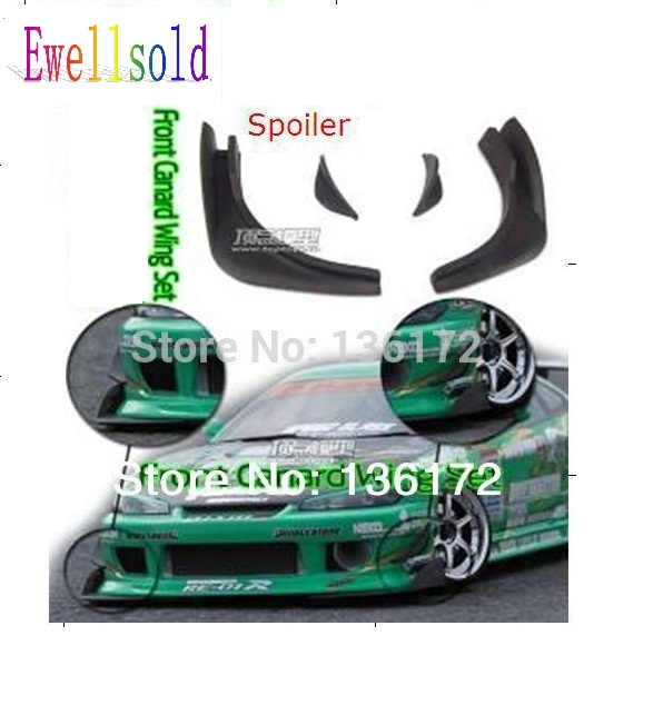 US $9 21 6% OFF|Ewellsold 1/10 rc car accessories front canard wing set /  spoiler for 1/10 RC drift car -in Parts & Accessories from Toys & Hobbies  on