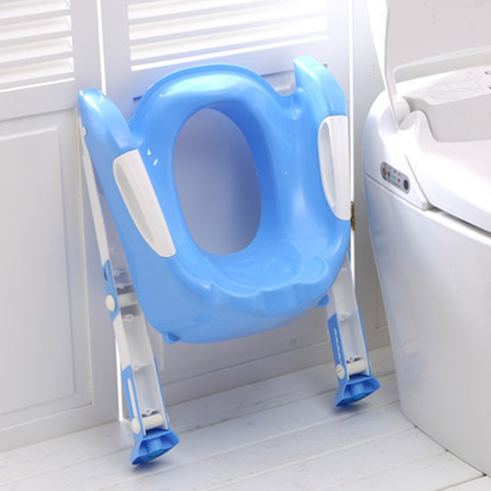 все цены на Baby Toddler Potty Toilet Trainer Safety Seat Adjustable Ladder Infant Toilet Pee Training Non-slip Folding Seat Potties for Boy онлайн