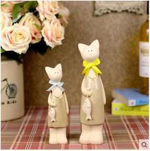 ceramic fish Lady lucky cat maneki neko home decor crafts room decoration handicraft ornament porcelain animal figurine