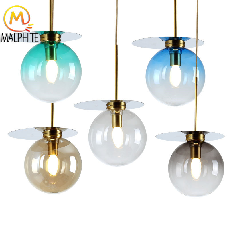 Modern Led Pendant Lights Stained Glass Hanging Kitchen Lamp Fixtures Lighting for The Bedroom Living Room Home Decor LuminaireModern Led Pendant Lights Stained Glass Hanging Kitchen Lamp Fixtures Lighting for The Bedroom Living Room Home Decor Luminaire