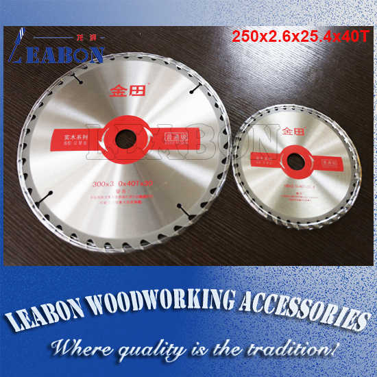 "10"" inches 250 x 40T x 25.4mm professional TCT wood cutting circular saw blades free shipping"