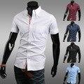 Moda decoración hombres ocio camisa de manga corta
