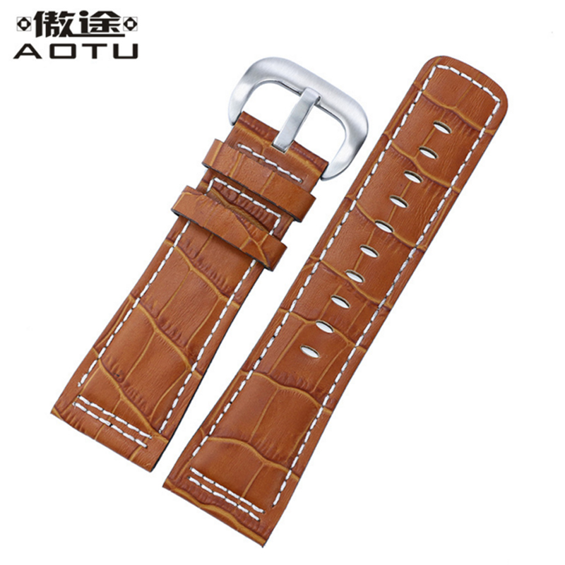 28MM Genuine Leather Watchbands For Seven Friday P1P2P3M1M2 Men Watch Straps Retro Clock Belt For Men Watch Band Freeshipping tjp 28mm italian genuine leather watchband brown watch band watch strap for men seven friday watch hour stainless steel buckle