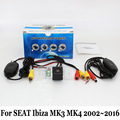 Cámara de Visión Trasera del coche Para SEAT Ibiza 6L 6J MK3 MK4 2002 ~ 2016/RCA Cable O Inalámbrica HD Lente Gran Angular/CCD Cámara de Visión Nocturna