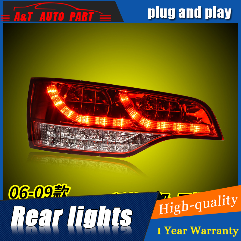 Car Styling LED Tail Lamp for Q7 Tail Lights 2006-2009 for Q7 Rear Light DRL+Turn Signal+Brake+Reverse LED light jgd brand new styling for mitsubishi pajero sport tail lights 2009 2015 led tail light rear lamp led drl singal car lights