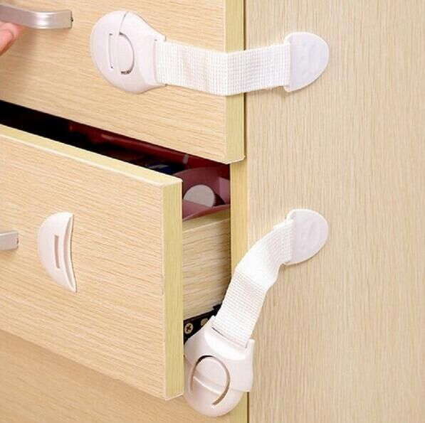 Hot Sales! 10pcs Lot Cabinet Door Drawers Refrigerator Toilet Safety Plastic Lock For Child Kid Baby Safety Free Shipping #25