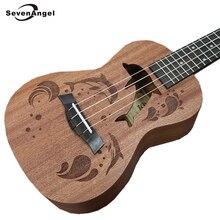 SevenAngel Brand 21″ 23 inch Ukulele 4 strings Hawaiian Guitar Lovely Dolphin Cartoon Patterns Ukelele For Kids Best Music Gift