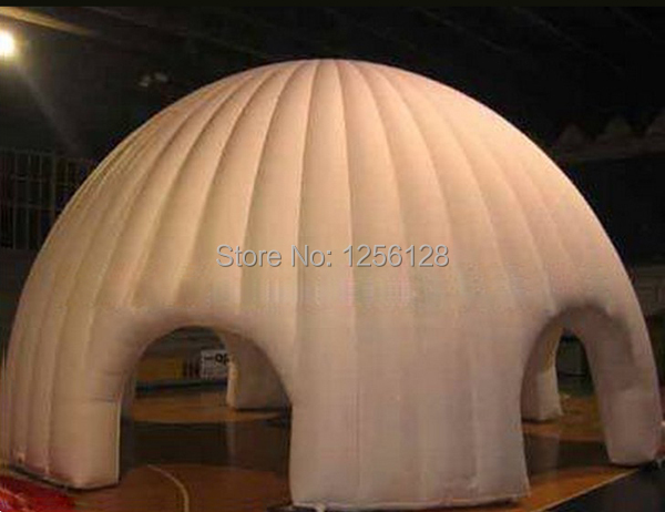 Popular White Inflatable Dome for Event With Fan funny summer inflatable water games inflatable bounce water slide with stairs and blowers
