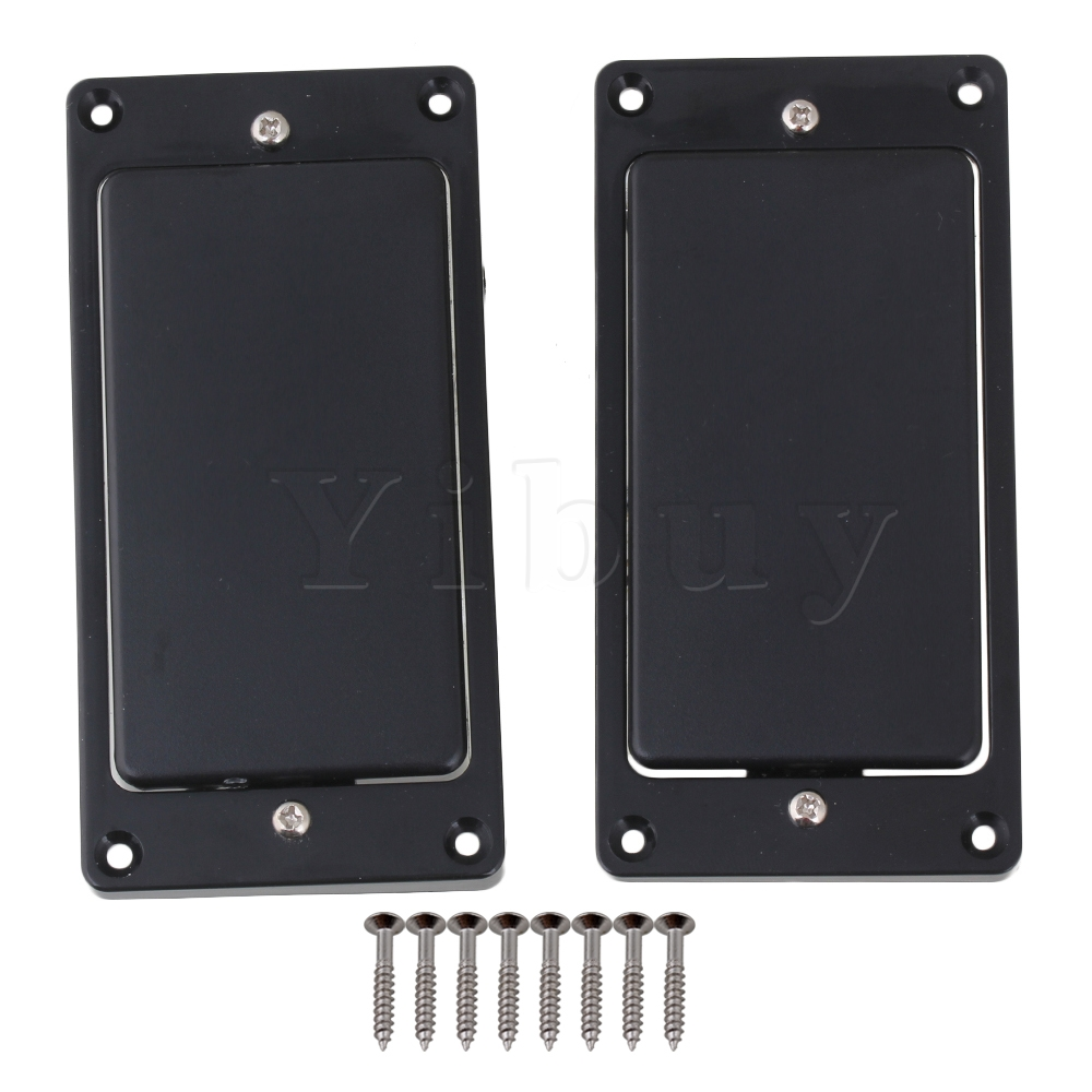 Yibuy Black Sealed Humbucker Pickup Set Pastillas de puente y cuello Pastillas para guitarra eléctrica