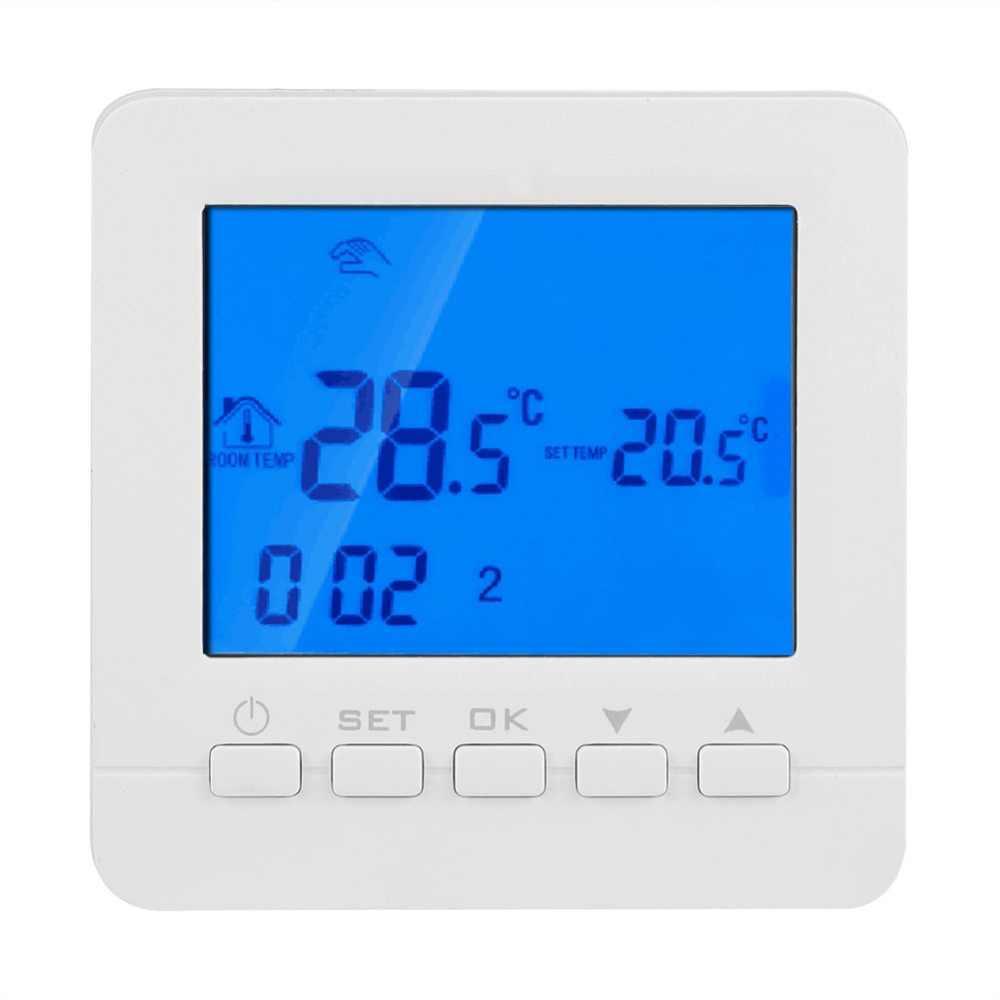 Dijital Isıtma Programlanabilir Termostat Sıcaklık HY02B05-2-WiFi lcd ekran/HY02TPR AB Tak 200-240 V Kablosuz Soket