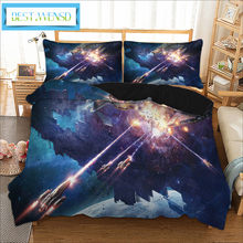 BEST.WENSD Pattern Bedding Set Duvet Cover +Pillowcases Cover Set 2/3pc/set Bedclothes Bed Cover Twin Full Queen King Size Space(China)