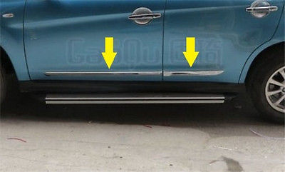 Chrome door Side body Molding trim for Mitsubishi ASX RVR Outlander sport 2010-2017 4pcs chrome abs side door body molding surround cover trim for mitsubishi outlander sport asx 2013 2014 2015 car styling