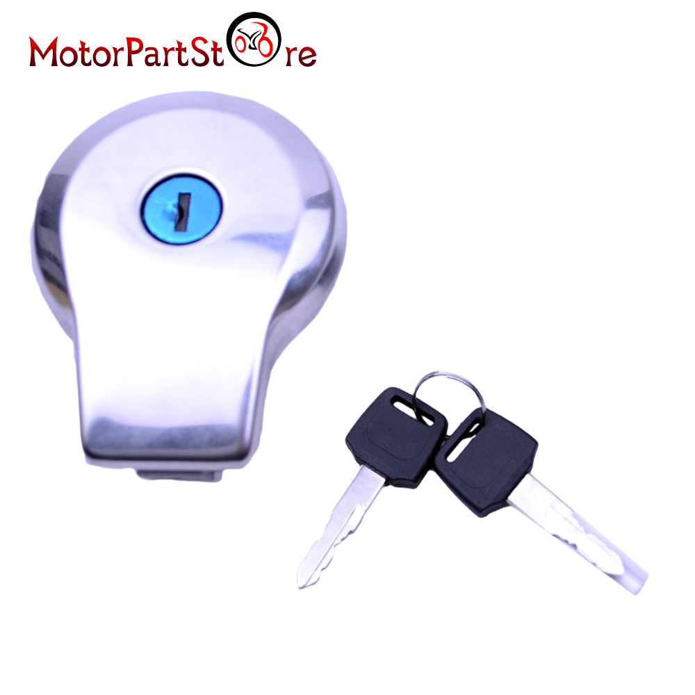 Motorcycle Fuel Gas Tank Cap Lock with Two Keys for Yamaha Virago XV125 XV250 400 535 750 1100 $