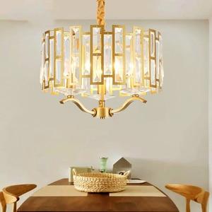 Image 2 - โมเดิร์นโมเดิร์น LED luxury K9 คริสตัลโคมระย้าแสงห้องนั่งเล่น Gold แขวน Nordic ห้องนอนโคมไฟรับประทานอาหารติดตั้ง