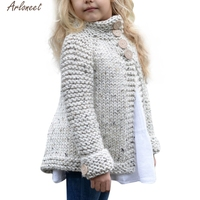 2017 Hot Sale Toddler Kids Baby Girls Outfit Clothes Button Knitted Sweater Cardigan Coat Tops High