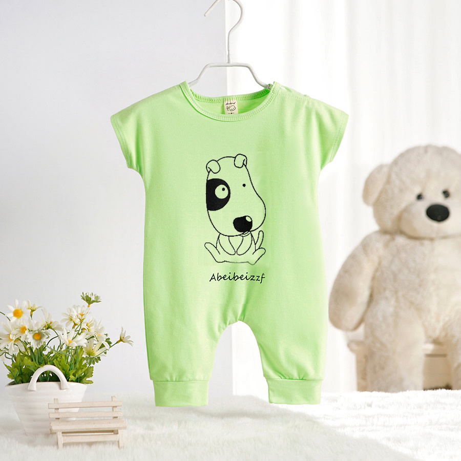 2016 Newborn Rompers Cute Toddler Baby Girl Boy Dog Cat -4988