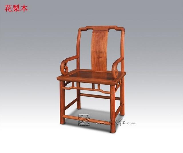 Redwood mahonie fauteuil massief houten stoel backed living