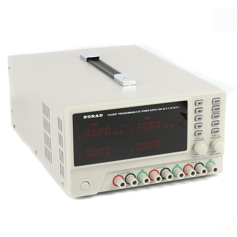 KORAD KA3305P Programmable Precision Variable Adjustable 30V 5A USB RS232 Ports Digital DC Triple Linear Power Supply Lab Grade laboratory power supply korad kd3005d 30v 5a 0 01v 0 001a linear dc power supply for laptop phone maintenance