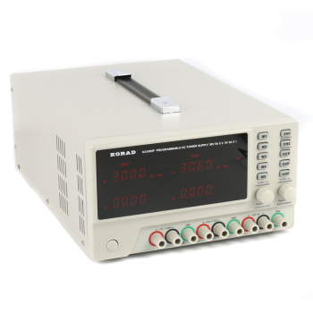 10 mV/1 mA Resolution Adjustable and Programmable Linear DC Power Supply with Keypad Lock