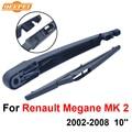MK QEEPEI Traseras Limpiaparabrisas y el Brazo Para Renault Megane 2 2002-2008 10 ''3/5 puertas Hatchback de Alta calidad de Caucho Natural