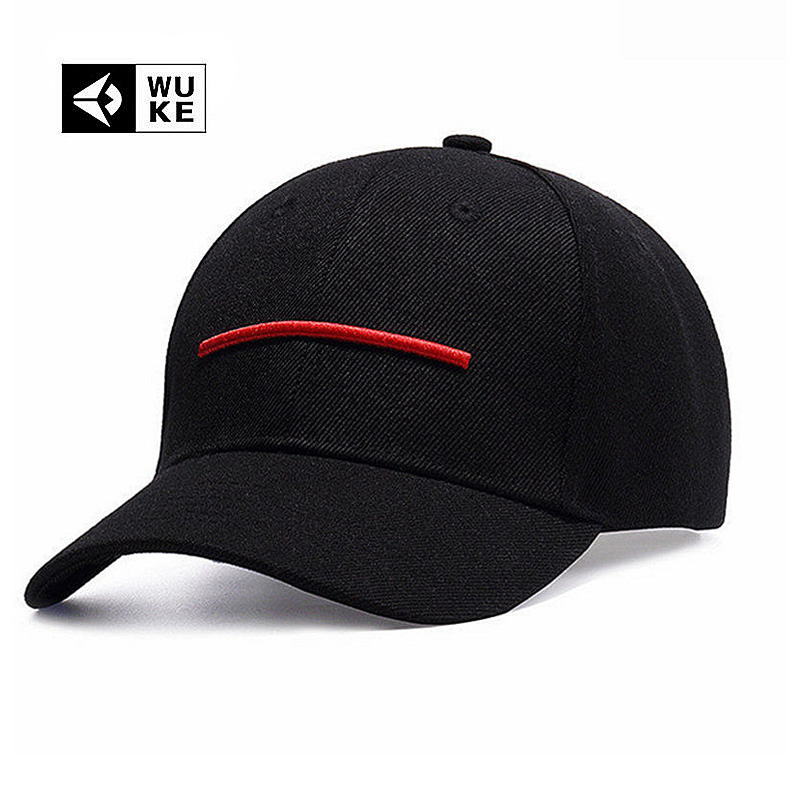 WUKE Brand New Line Baseball Cap Men Women Plain Bone Aba Curva Adjustable Casual Unisex Hat Personality High Quality Caps showersmile brand sherlock holmes detective hat unisex cosplay accessories men women child two brims baseball cap deerstalker