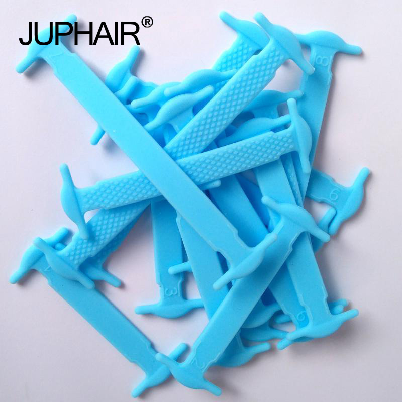 JUP 1-50 Sets Sky Blue Fashion Kids Child Boy Girl Athletic No Tie Shoelaces Elastic Silicone Laces All Sneaker Sport Fit Girth