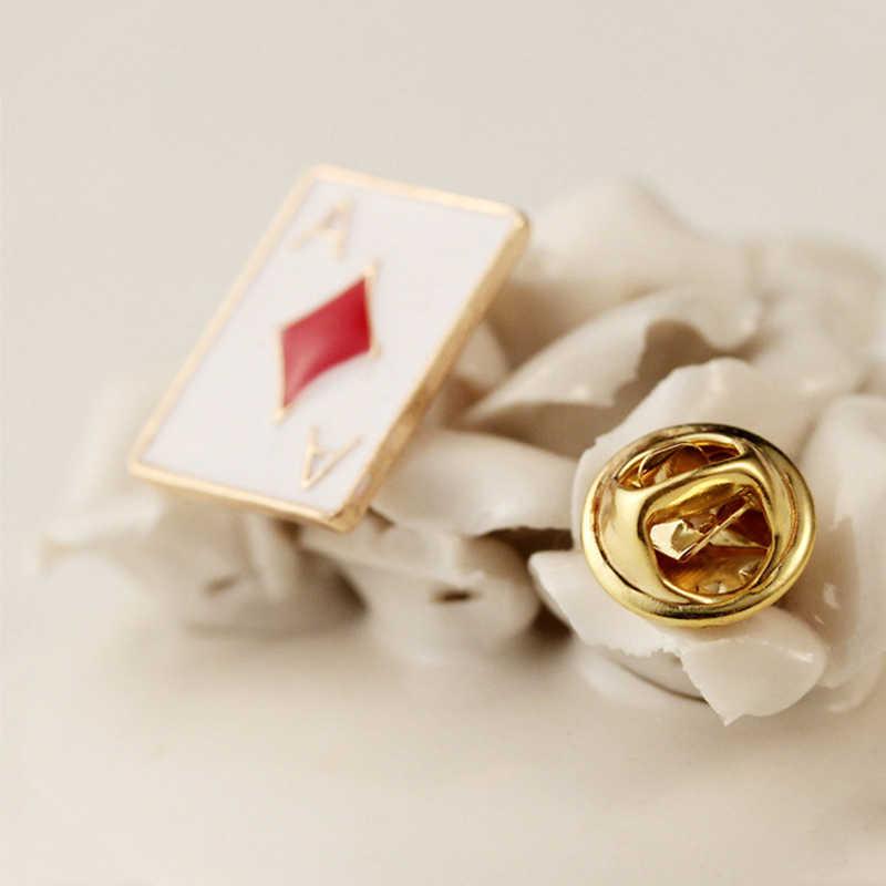 Baru 1 Pcs/Tas Indah Model Gaya Poker Kecil Logam Paduan Bunga Kerah Peach Heart Box Kerah Klip Pakaian Dekorasi