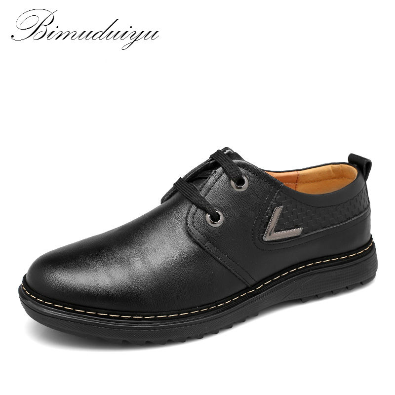BIMUDUIYU Spring Autumn Business Men's Casual Fashion Leather Flat Single Shoes Minimalist Design Clearance A cheap Only 9 Pairs only a promise